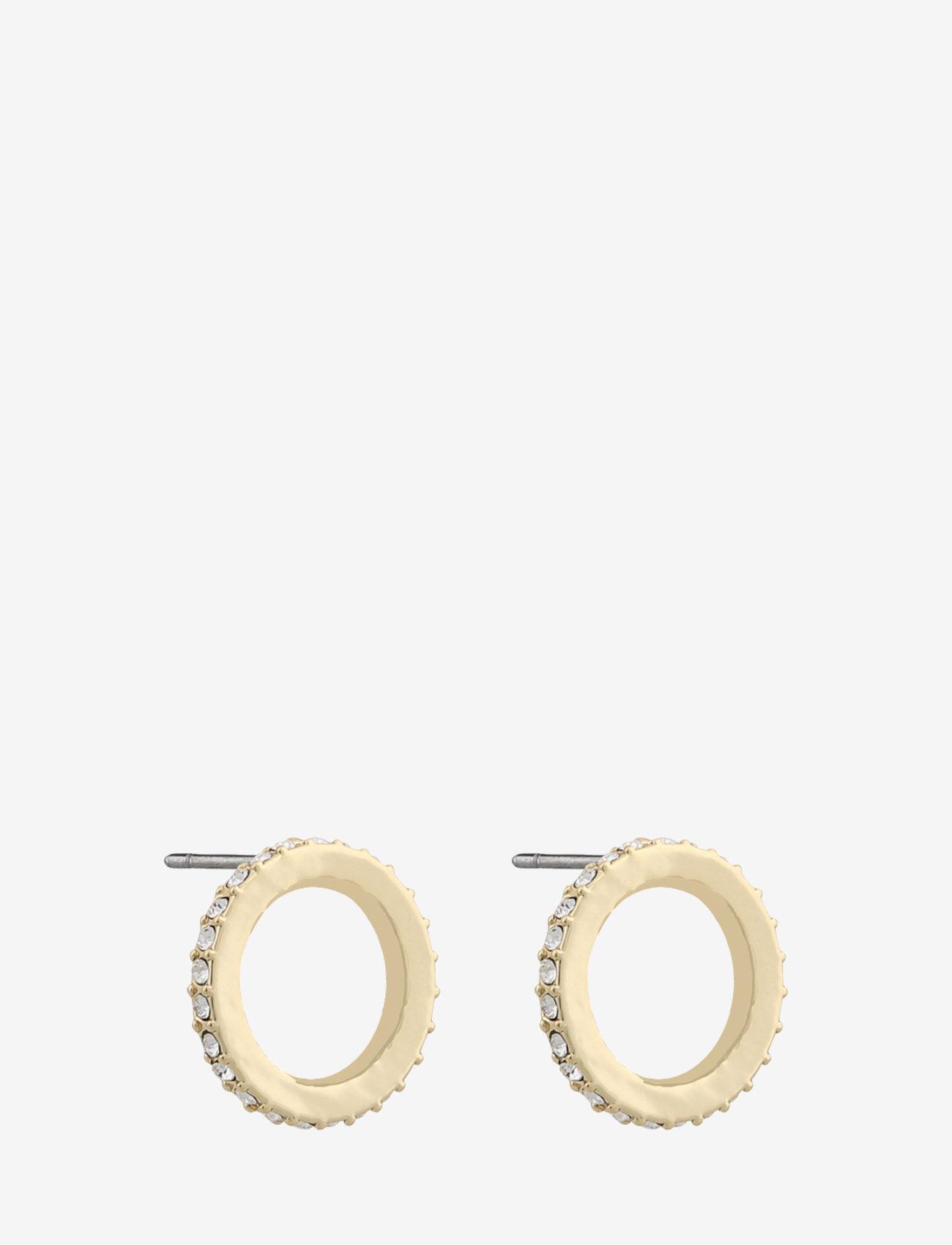 SNÖ of Sweden - Mari mini round ear - stud oorbellen - g/clear - 0