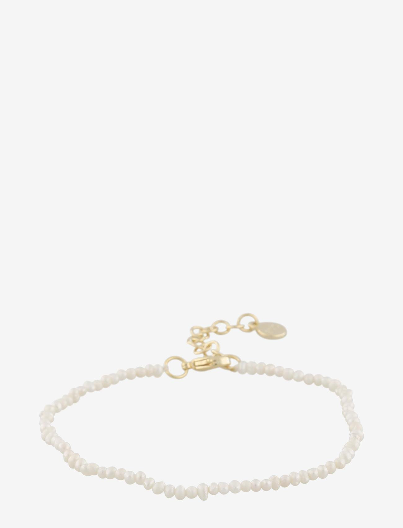 SNÖ of Sweden - Marion small pearl brace g/white - dainty - g/white - 0