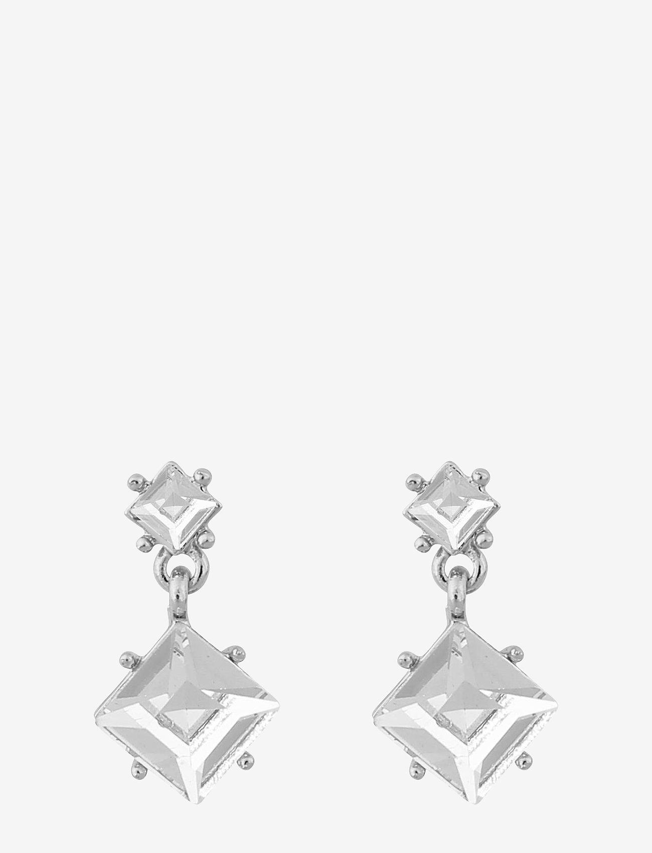 SNÖ of Sweden - District pendant ear - wiszące kolczyki - s/clear - 0