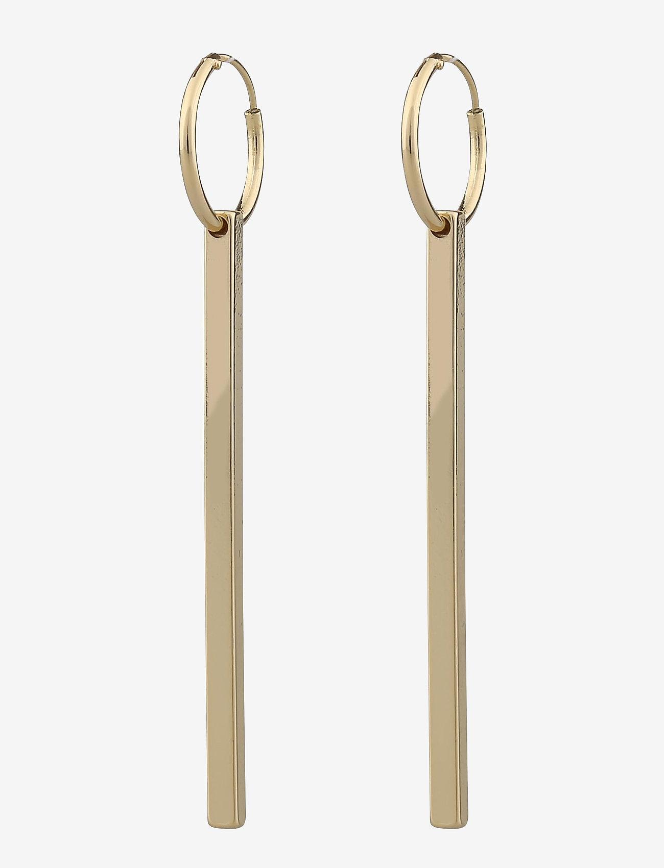 SNÖ of Sweden - Carlo long ear - statement earrings - plain g - 0