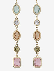 SNÖ of Sweden - Troy long ear oval - statement earrings - g/mix 2 - 0