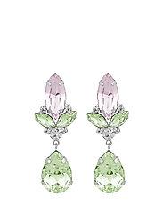 Luisa big pendant ear s/mix light pink - S/MIX LIGHT PINK
