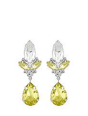 Luisa big pendant ear s/mix yellow - S/MIX YELLOW