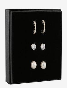 Christmas 20 earring set g/clear - nappikorvakorut - g/clear