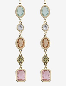 Troy long ear oval - statement earrings - g/mix 2