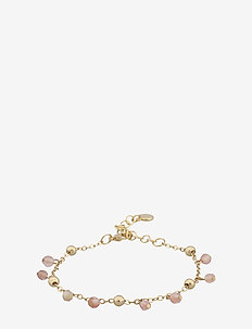 Roc charm brace - dainty - g/light pink