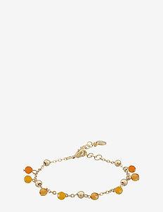 Roc charm brace - dainty - g/amber