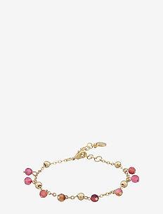 Roc charm brace - dainty - g/pink