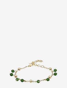 Roc charm brace - dainty - g/green