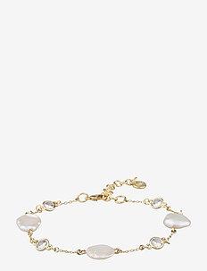 Shape pearl brace - dainty - g/white