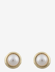 Light small ear - stud oorbellen - g/white
