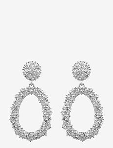 Light pendant ear - statement earrings - plain s
