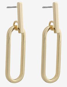 Nina big pendant ear - statement earrings - plain g