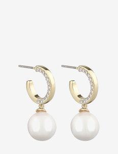 Celine ring ear g/white - pendant - g/white