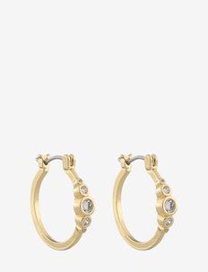 Twenty oval ear g/clear - hoops - g/clear