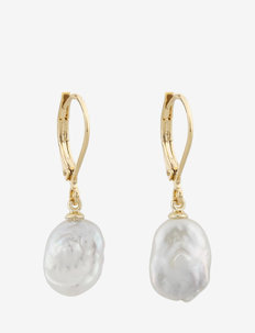 Marion pearl ear g/white - oorhangers - g/white