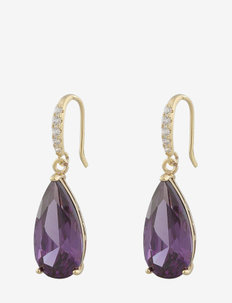 Camille long pendant ear g/lilac - oorhangers - g/lilac