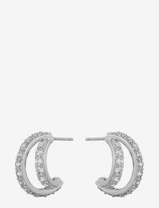Camille big oval ear s/clear - stud oorbellen - s/clear