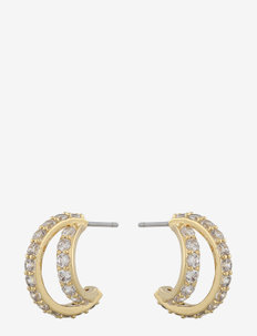 Camille big oval ear g/clear - stud oorbellen - g/clear