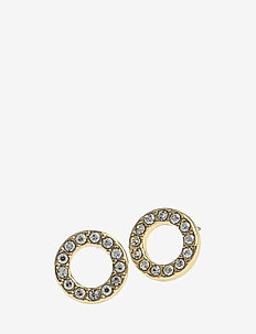 Spark small coin ring ear - goujons - gold/clear