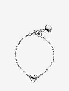 Small card chain brace - dainty - plain silver