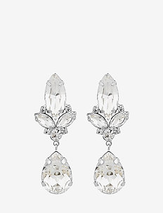 Luisa big pendant ear s/clear - S/CLEAR
