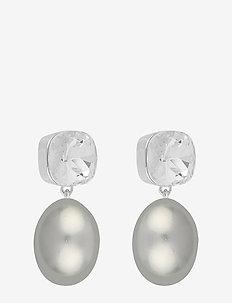 Muse pendant ear - s/grey