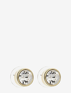 West Broadway small ear - studs - g/clear