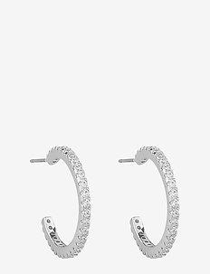 Clarissa oval ear s/clear - pendant - s/clear
