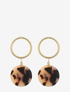 Central ring pendant ear - statement - g/grey