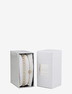 Crystal vintage brace set - G/CLEAR