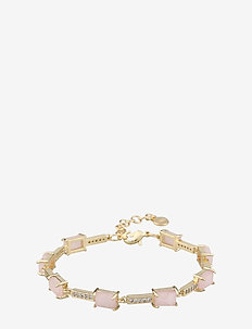 Satin stone brace - dainty - g/pink