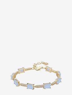 Satin stone brace - dainty - g/light blue