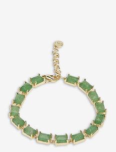 Satin stone brace - dainty - g/green