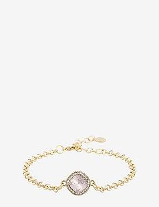 Lyonne small chain brace - dainty - g/light pink