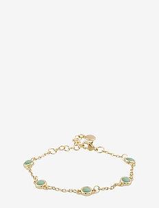 Agatha small chain brace - dainty - g/green