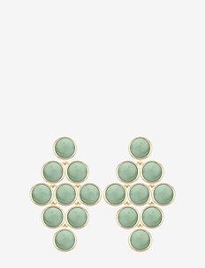 Agatha small stone pendant ear - pendant - g/green