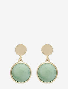 Agatha short ear - pendant - g/green
