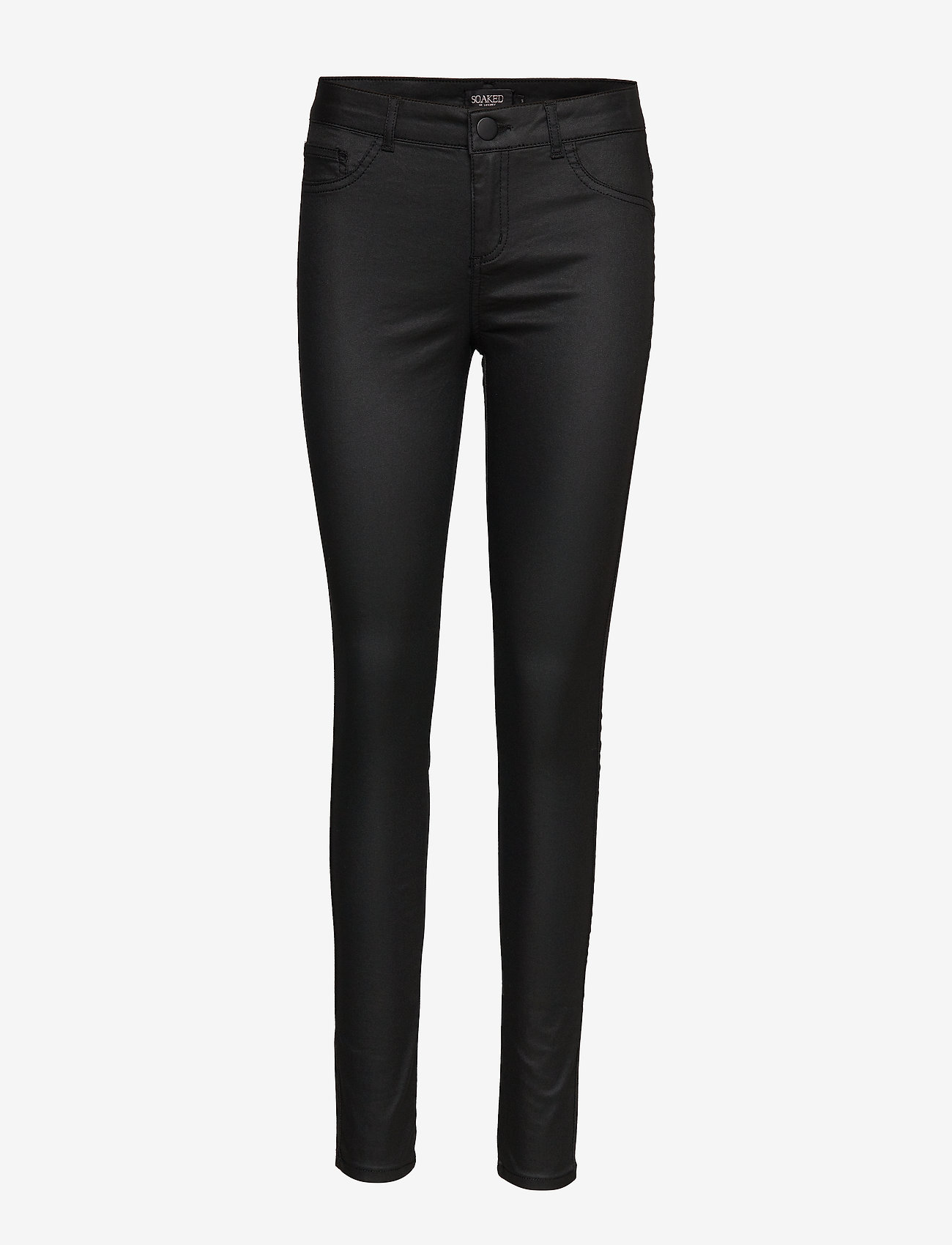 Soaked in Luxury - SLLeia coated Jeggings - slim fit trousers - black - 1