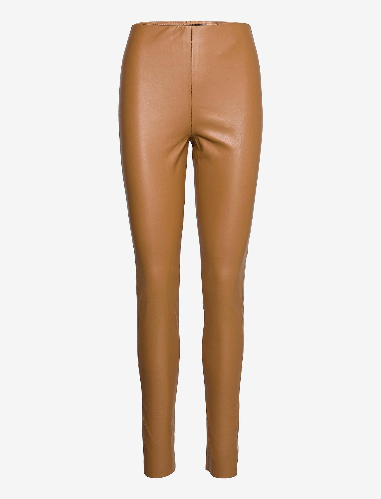 Soaked in Luxury - SLKaylee PU Leggings - læderbukser - rubber - 1