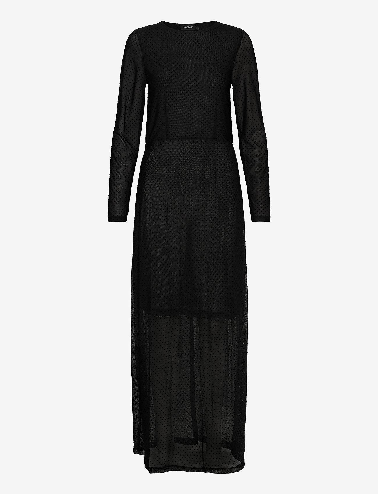 Soaked in Luxury - Piper Dress LS - kveldskjoler - black - 0