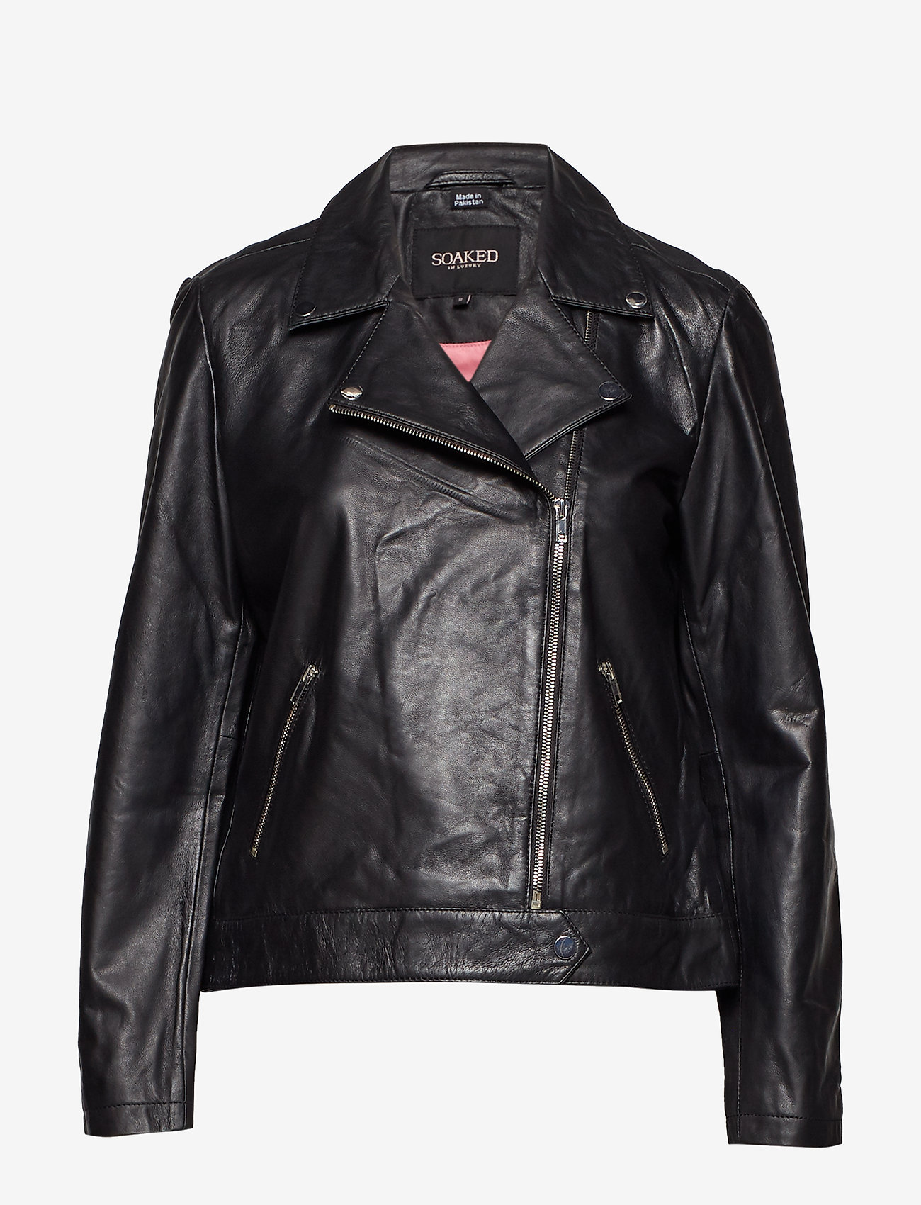 Soaked in Luxury - SLMaeve Leather Jacket LS - skinnjackor - black - 1