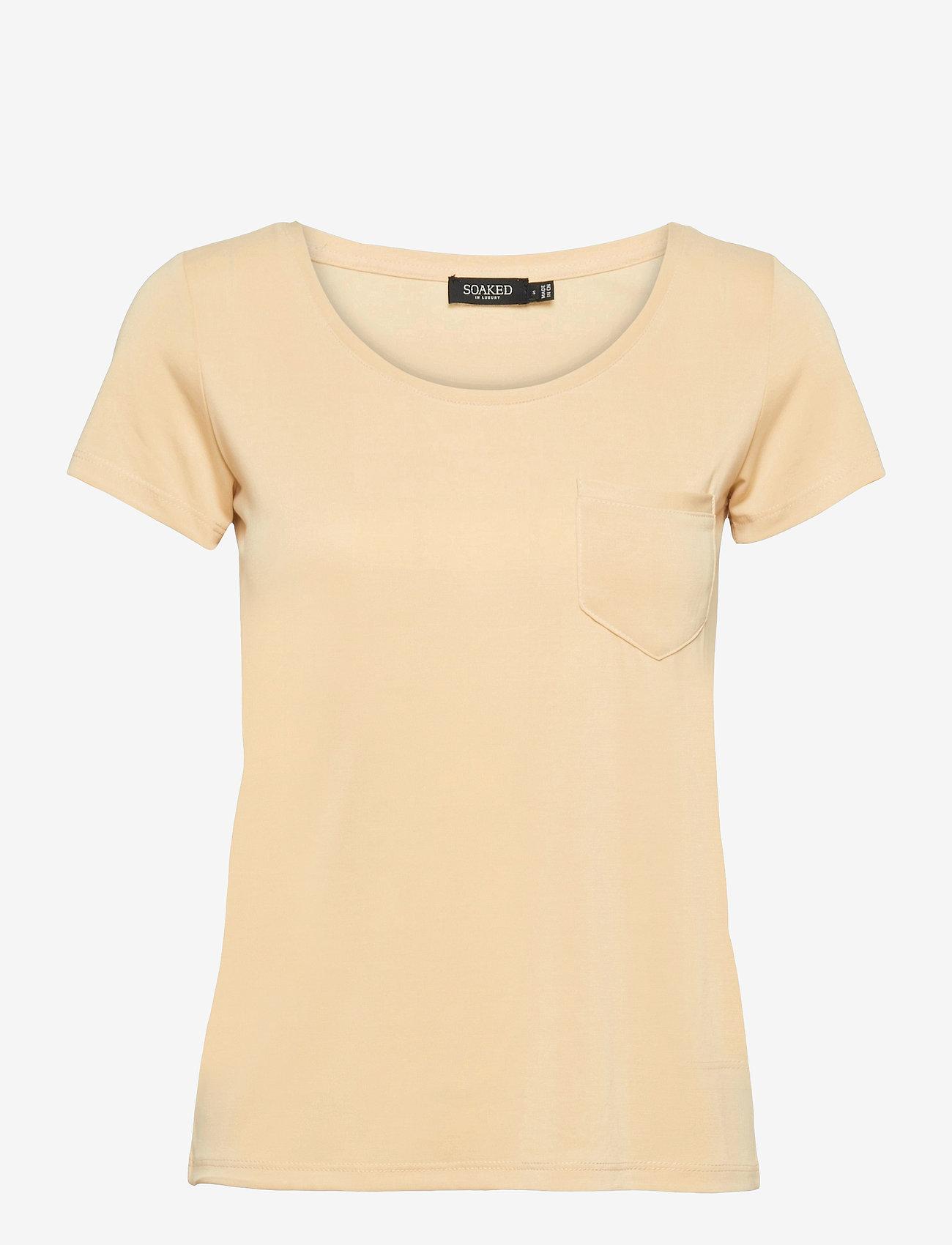 Soaked in Luxury - SLColumbine Tee - t-shirts - cornhusk - 1