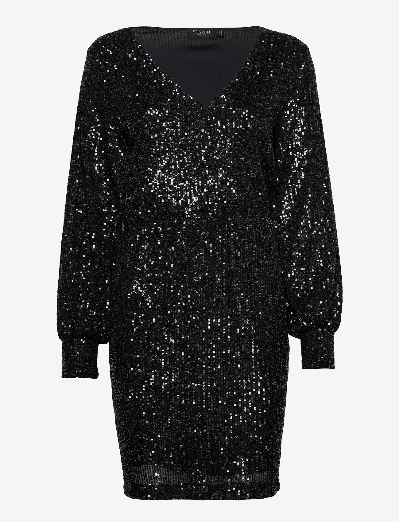 Soaked in Luxury - SLNicole Dress - paljettkjoler - black - 0