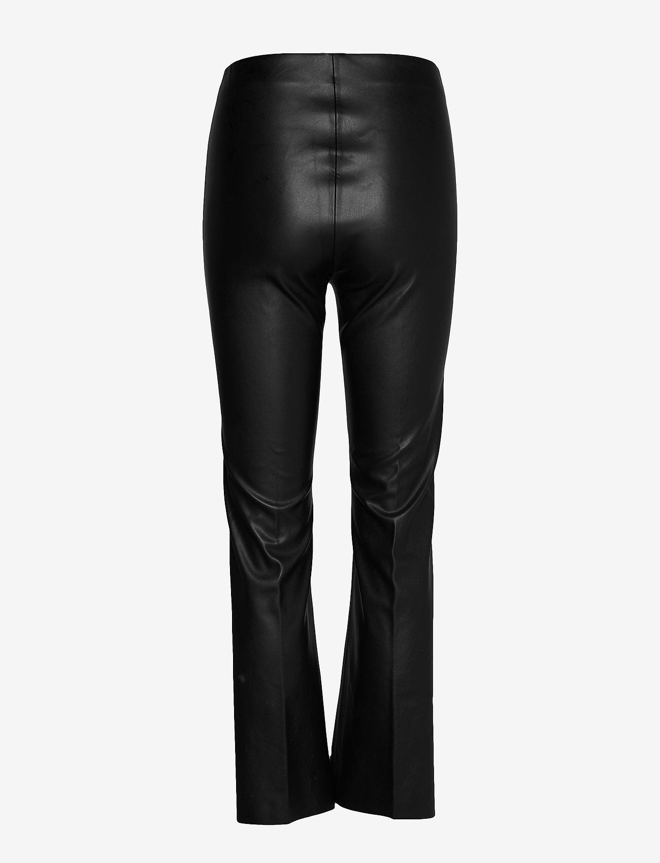 Soaked in Luxury - SLKaylee PU Kickflare Pants - skinnbyxor - black - 1