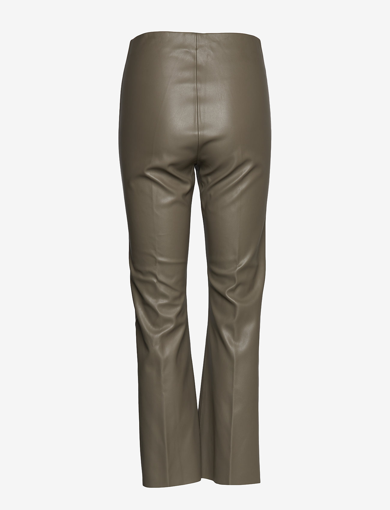 Soaked in Luxury - SLKaylee PU Kickflare Pants - skinnbyxor - brindle - 1