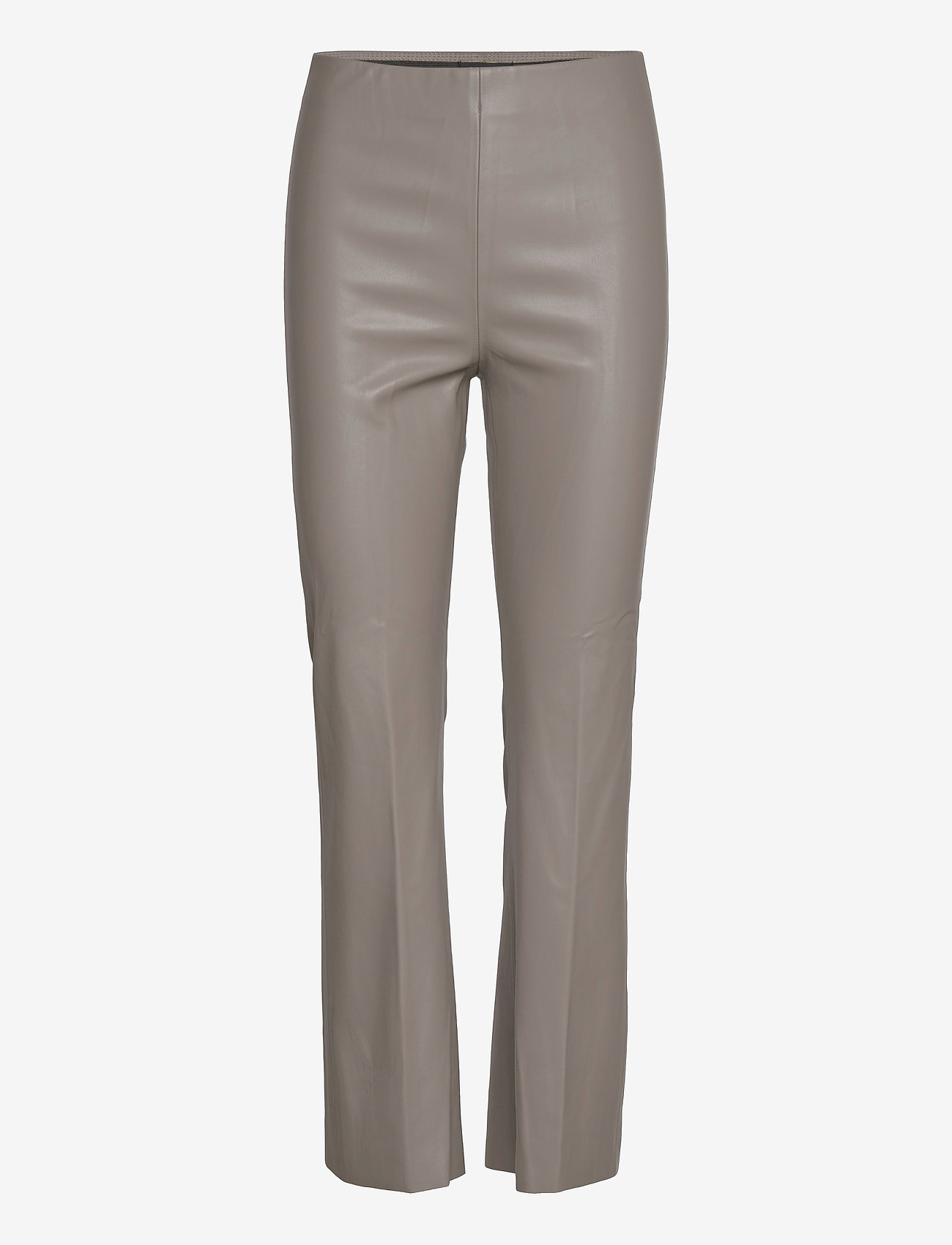 Soaked in Luxury - SLKaylee PU Kickflare Pants - skinnbyxor - brushed nickel - 1