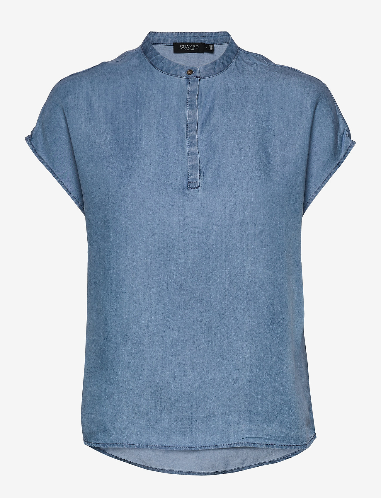 Soaked in Luxury - SLKesia Bell Top - bluzki z krótkim rękawem - medium blue denim - 1