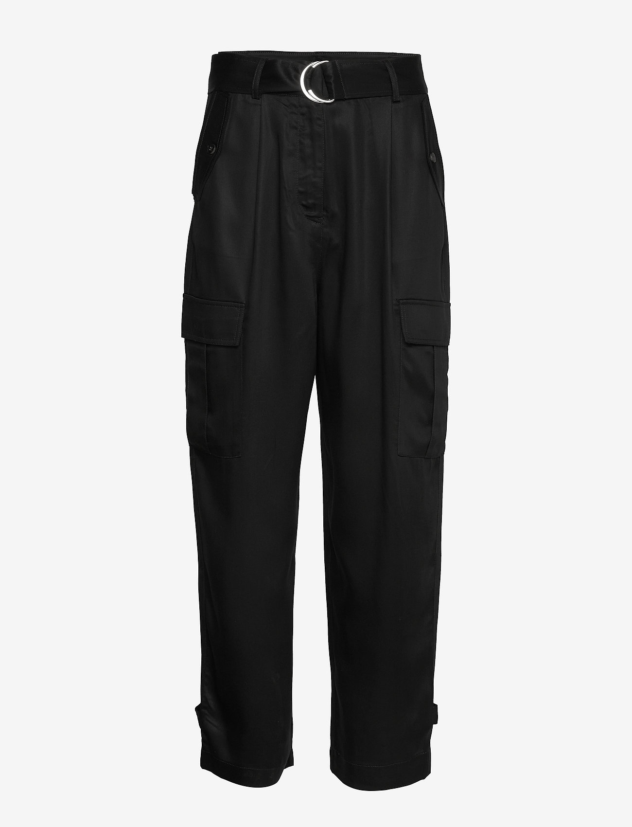 Soaked in Luxury - SLLamia Pants - bukser med brede ben - black - 0