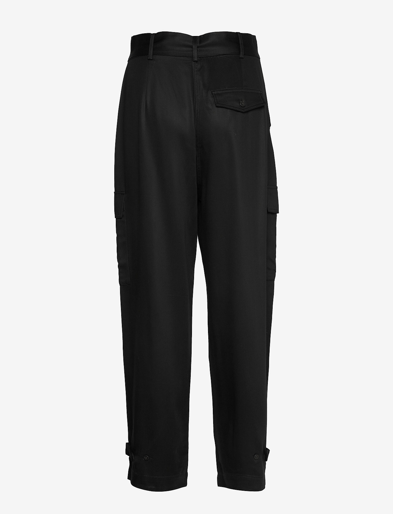 Soaked in Luxury - SLLamia Pants - bukser med brede ben - black - 1